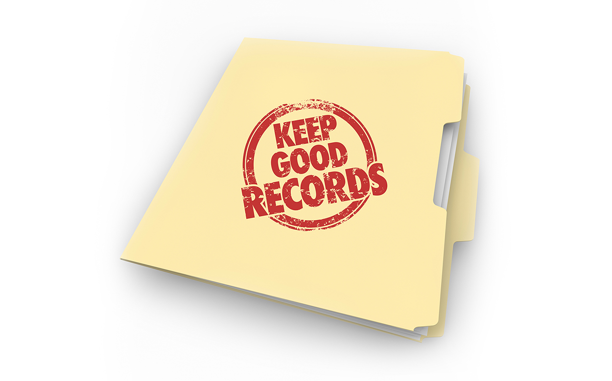 Keep good tax records